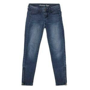 American Eagle Skinny Jegging Jeans Sz 0 Stretch